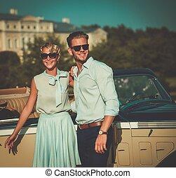 palazzo, classico, coppia, reale, contro, ricco, convertibile