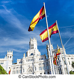 palazzo de cibeles, Madrid - Cibeles museo and located...