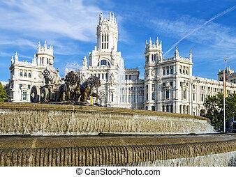 palazzo de cibeles, Madrid - Cibeles museo and located...