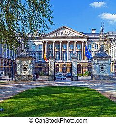 palazzo, di, nazioni, bruxelles, belgio