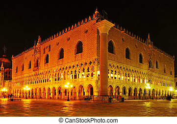 Palazzo Ducale in Venice, Italy - view of the Palazzo...