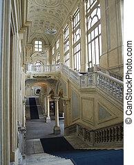 Palazzo Madama, Turin - Baroque interior of Palazzo Madama,...