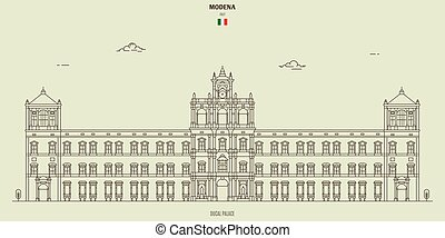 palazzo, modena, italy., ducal, punto di riferimento, icona