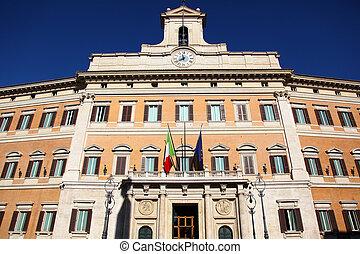 Palazzo Montecitorio Rome - the Palazzo Montecitorio is a...