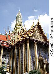 palazzo, phra, bangkok, grande, tailandia, wat, kaew, tempio
