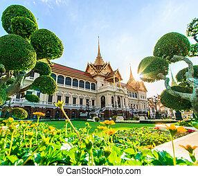 palazzo, phra, grande, reale, tailandia, kaeo, asia, bangkok