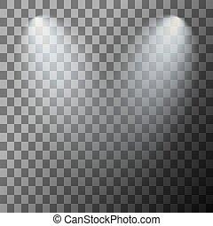 palcoscenico, illuminato, riflettore