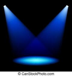 palcoscenico, riflettori