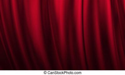 palcoscenico, tenda rossa, teatro, fondo