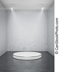 palcoscenico vuoto, in, interno