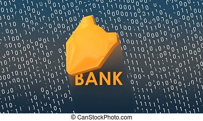 """palcowa bankowość, ochrona, ożywienie, """"concept, dane,..."""