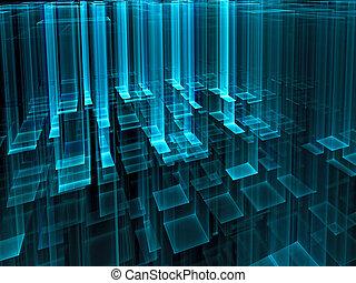 palczasto, abstrakcyjny, -, szkło, rodzony, tech, tło, wizerunek