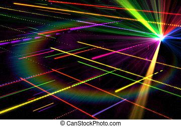 palczasto rodzony, laser, tło, dyskoteka