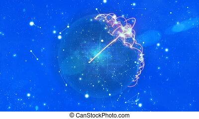 palczasto rodzony, video, od, galaktyka