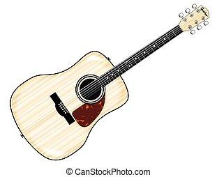 Pale Acoustic Guitar