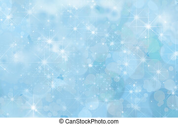 Pale Blue Abstract Star Background - A pale blue twinkling...