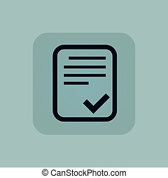 Pale blue accepted document icon