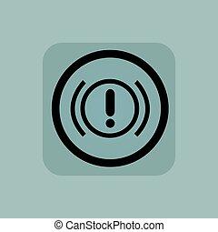 Pale blue alert sign