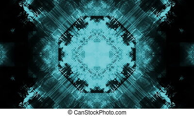 Pale blue and black geometric abstract VJ loop - Animated...
