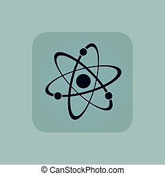 Pale blue atom icon