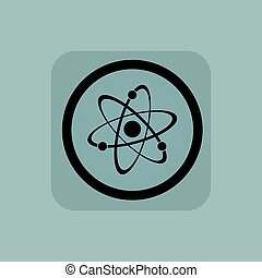 Pale blue atom sign