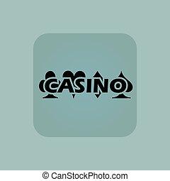 Pale blue casino icon