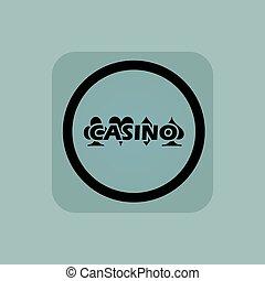 Pale blue casino sign