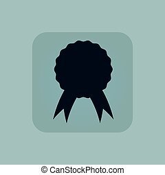 Pale blue certificate seal icon