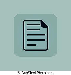 Pale blue document icon