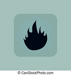Pale blue fire icon