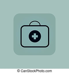 Pale blue first-aid kit icon