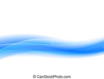 Pale Blue, Flowing Vector Wave Background