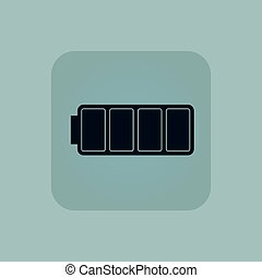 Pale blue full battery icon