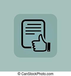 Pale blue good document icon