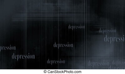 Pale blue grey depression looping animated abstract CG background