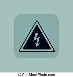 Pale blue high voltage icon