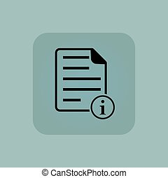 Pale blue information document icon