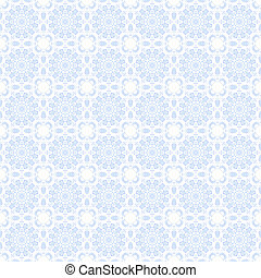Baby blue vine elements combine in kaleidoscope patterns for a damask style pattern