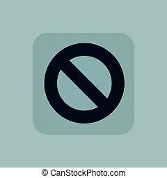 Pale blue NO sign icon