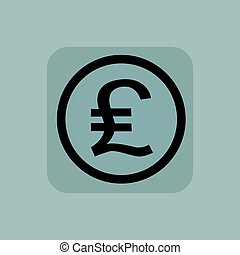 Pale blue pound sterling sign - Pound sterling symbol in...