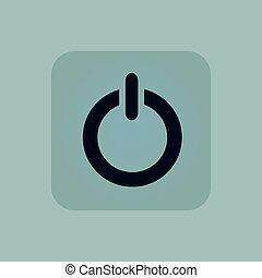 Pale blue power icon