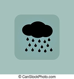 Pale blue rain icon