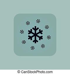 Pale blue snow icon