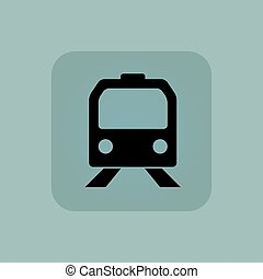 Pale blue train icon