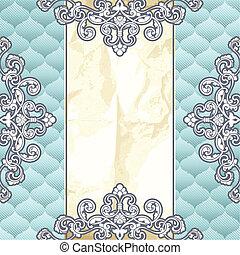 Pale blue vintage banner