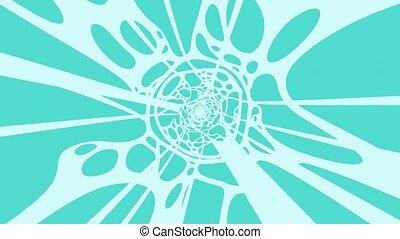 Pale Blue Wave On Mint Blue Background. Loop able 3D render ...