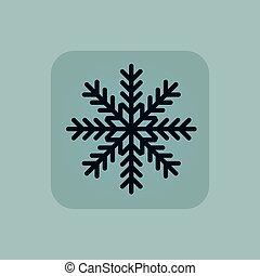 Pale blue winter icon