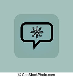 Pale blue winter message icon