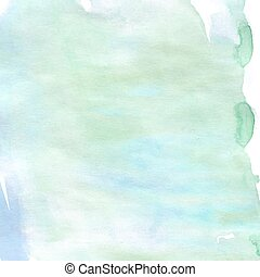 Pale distressed green blue