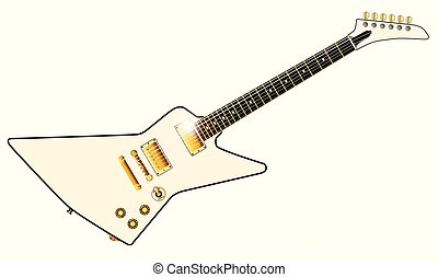 Pale Electric Guitar